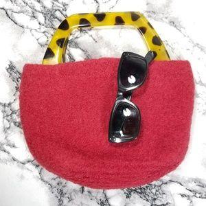 🍓NWOT 50s style Mod Squad Felted Red Handbag🍓